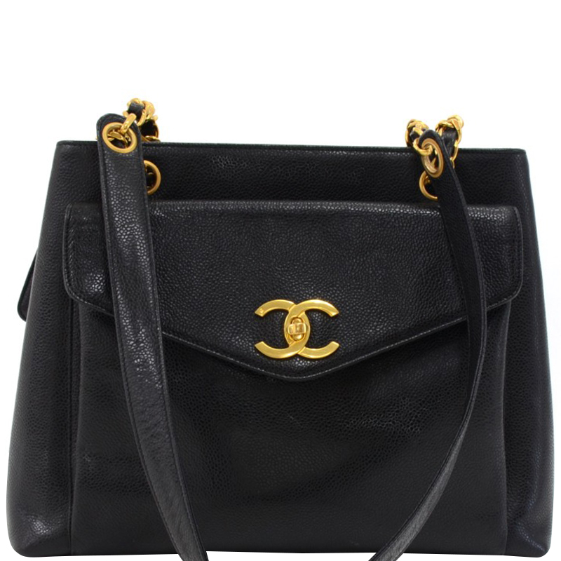 de45968c6d2f Buy Chanel Black Caviar Vintage CC Shoulder Bag 146850 at best price ...
