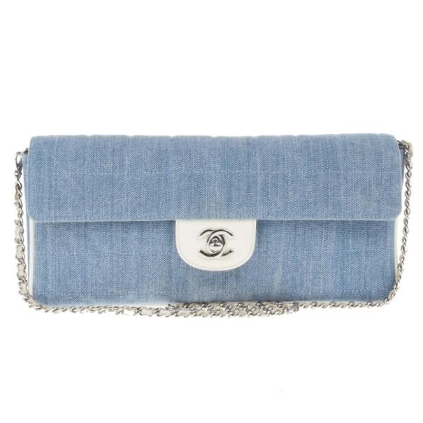 7957f77e39691a Buy Chanel Blue Denim Chocolate Bar Medium East-West Bag 14920 at ...