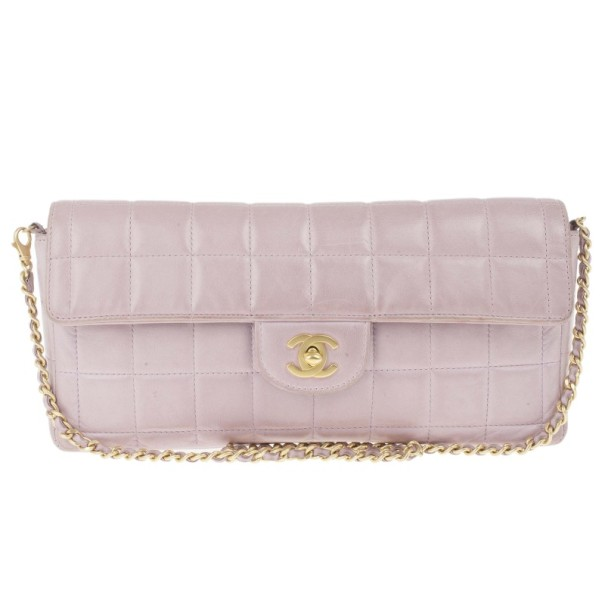 97f4a63581df ... Chanel Pink Lambskin Chocolate Bar East-West Baguette Clutch. nextprev.  prevnext