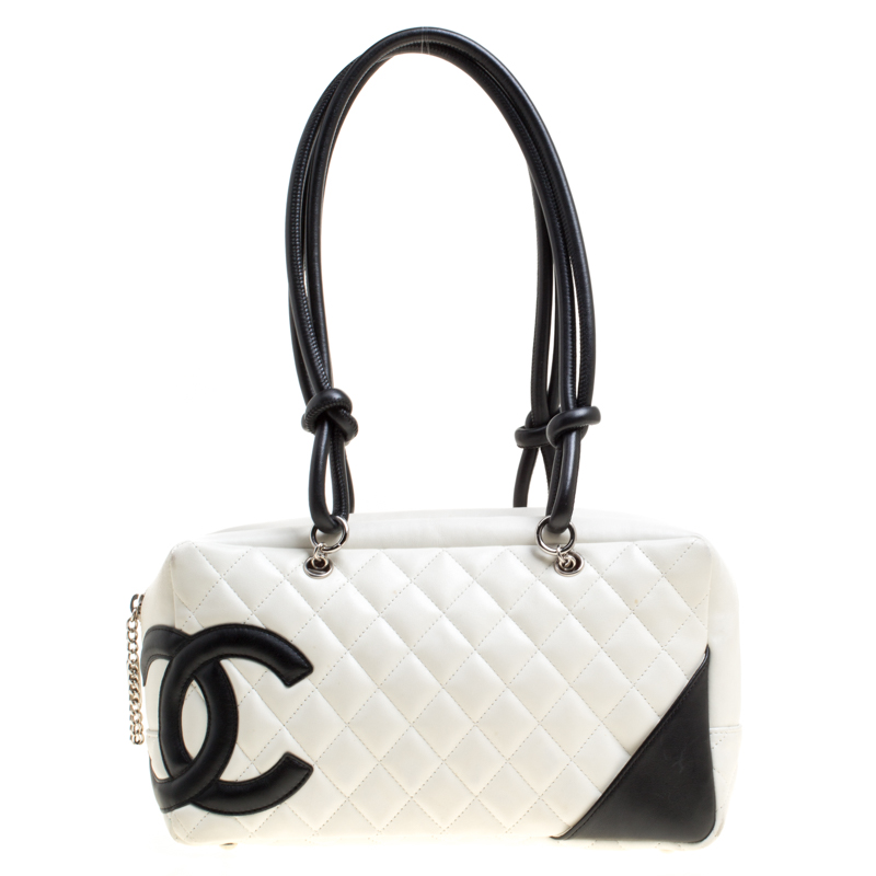 d1112eba8beb ... Chanel White Quilted Leather Cambon Ligne Bowler Bag. nextprev. prevnext