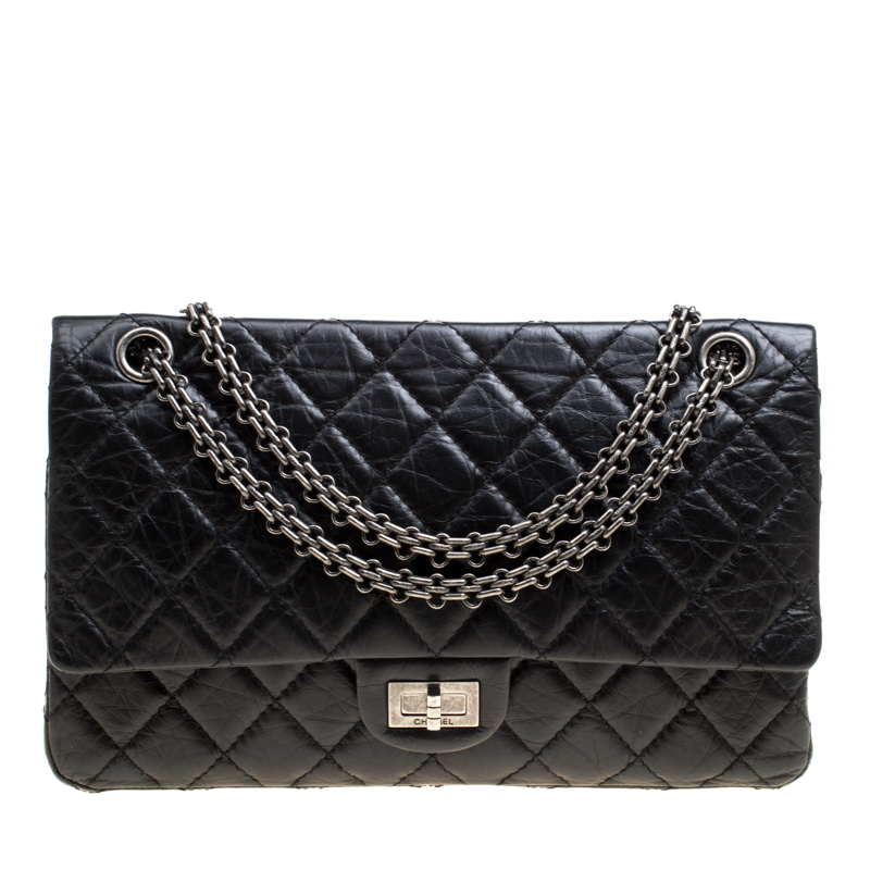 Chanel Black Quilted Leather Reissue 2.55 Classic 226 Flap Bag