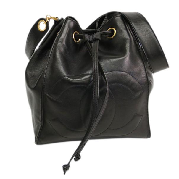 78832bbd52e4 Buy Chanel Black Lambskin Drawstring Hobo 1509 at best price