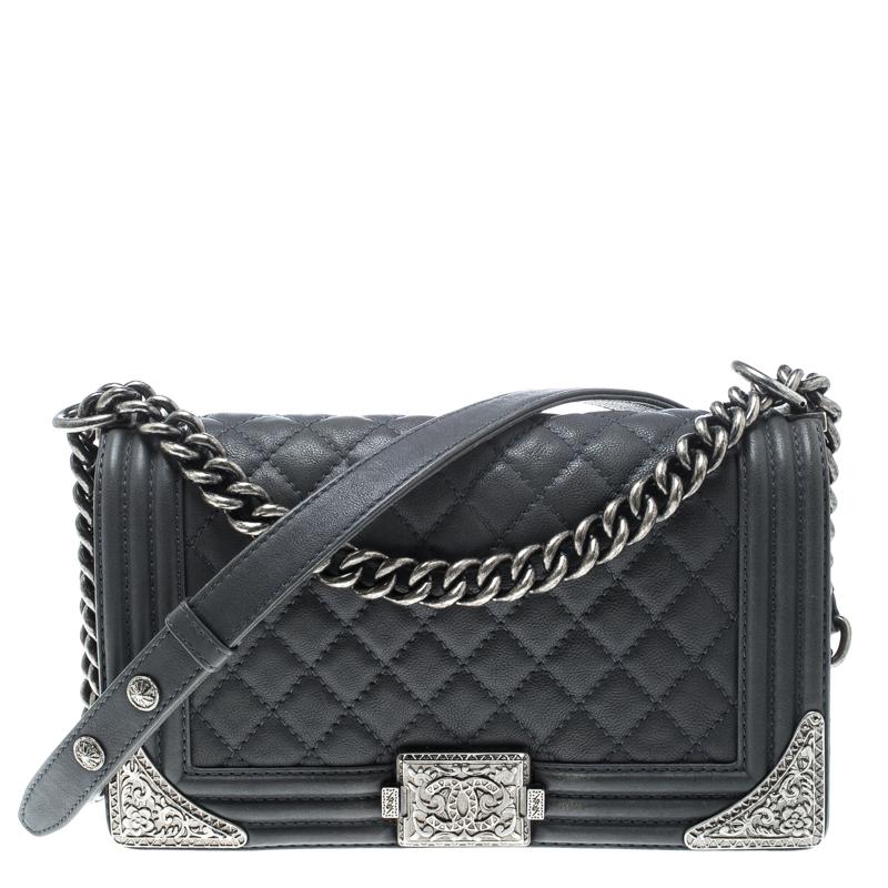 da1beb34dc7b Buy Chanel Pale Blue Quilted Leather Medium Paris Dallas Boy Flap ...