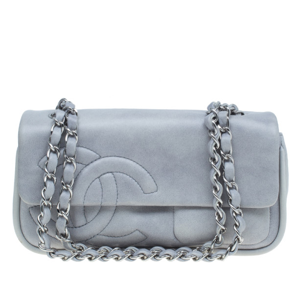 ... Chanel Grey Lambskin Diagonal CC Chain Flap Bag. nextprev. prevnext fe8ab7909