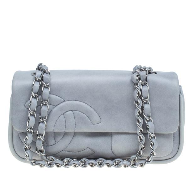 be9429a6526e ... Chanel Grey Lambskin Diagonal CC Chain Flap Bag. nextprev. prevnext