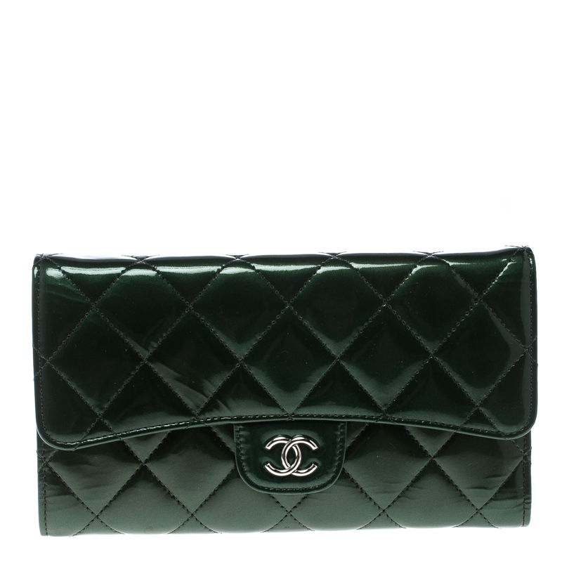 c1e52c833ac3 ... Chanel Green Quilted Leather Classic Flap Wallet. nextprev. prevnext