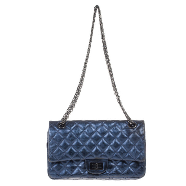 Buy Chanel Metallic Blue 2.55 Reissue Bag 15254 at best price  12296e3960