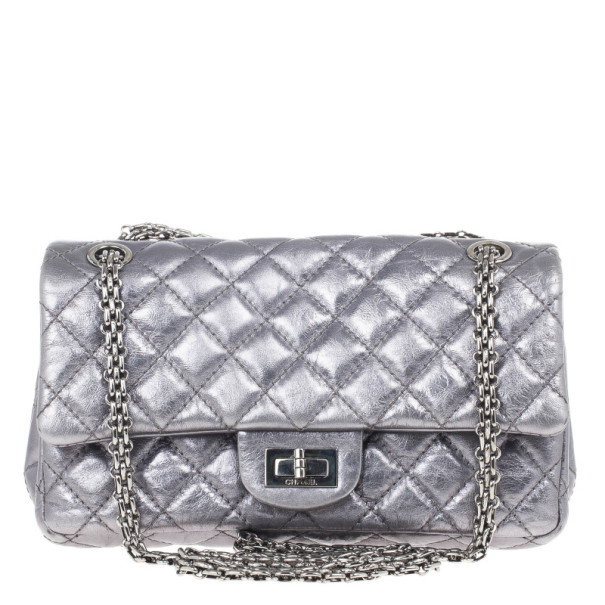 7910b19aabab Buy Chanel Metallic Grey 2.55 Reissue 226 Flap Bag 15421 at best price | TLC