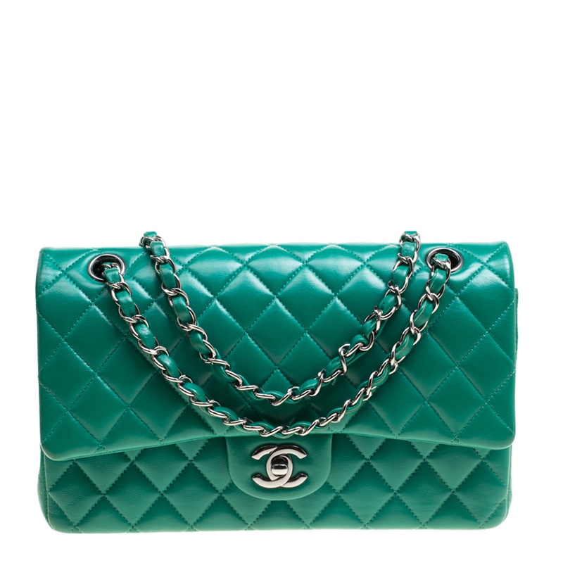 c192ab0209942f ... Chanel Green Quilted Leather Medium Classic Double Flap Bag. nextprev.  prevnext