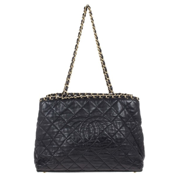 ef18037e35be63 Buy Chanel Black Lambskin Chain Me Tote Bag 15690 at best price | TLC
