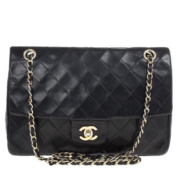 c63028523ea ... Chanel Black Vintage Lambskin Medium Classic Flap Bag. nextprev.  prevnext