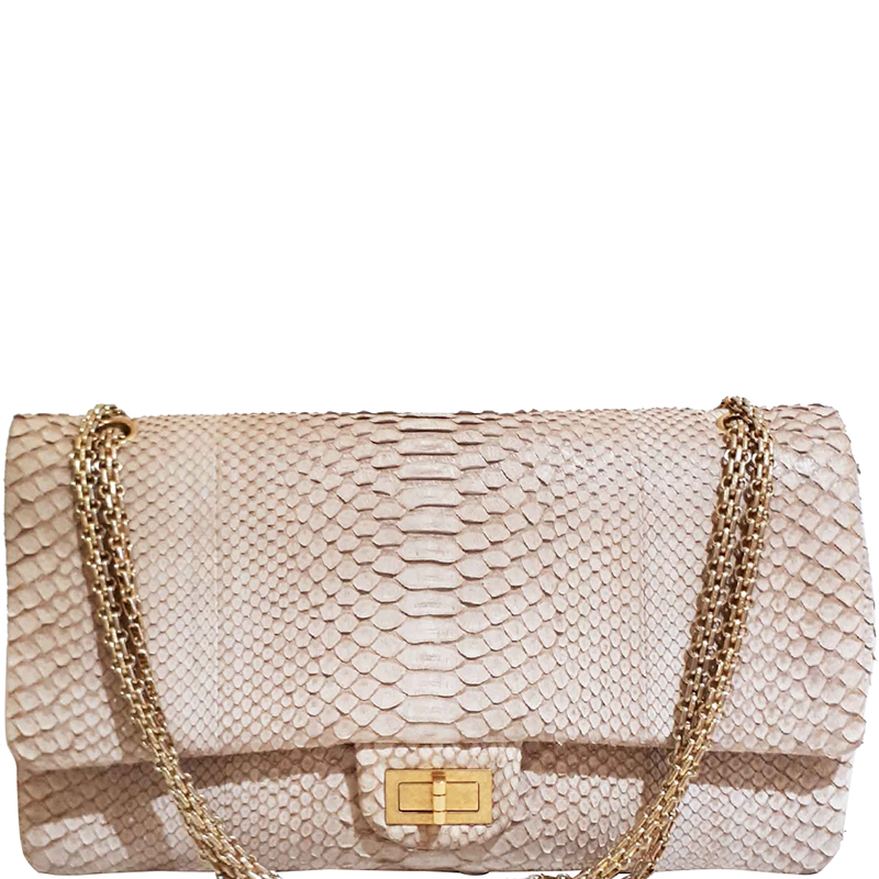 aa2d95a14d Buy Chanel Beige Python 2.55 Reissue Double Flap Bag 159272 at best ...