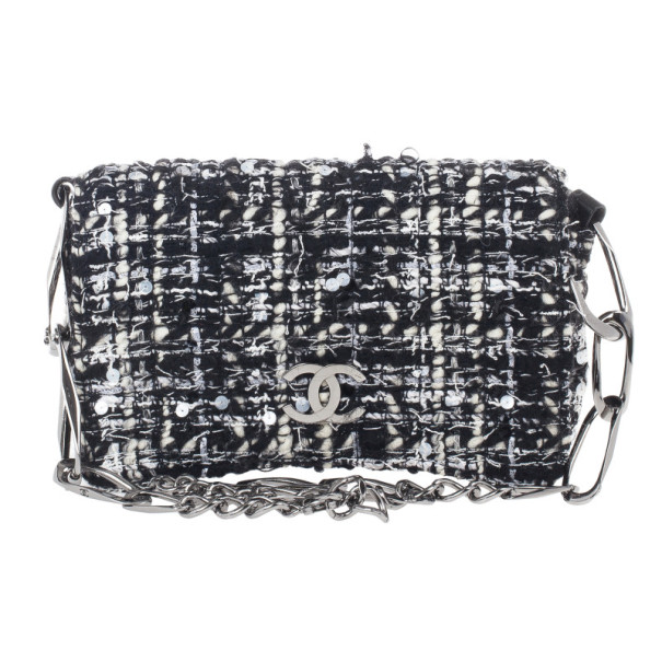18a85cc87008fe Buy Chanel Black and White Tweed Small Flap Bag 15943 at best price ...