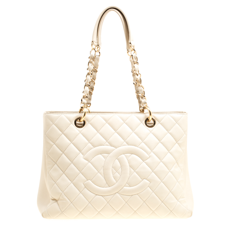 73aed306bbea ... Chanel Beige Quilted Caviar Leather Grand Shopper Tote Bag. nextprev.  prevnext