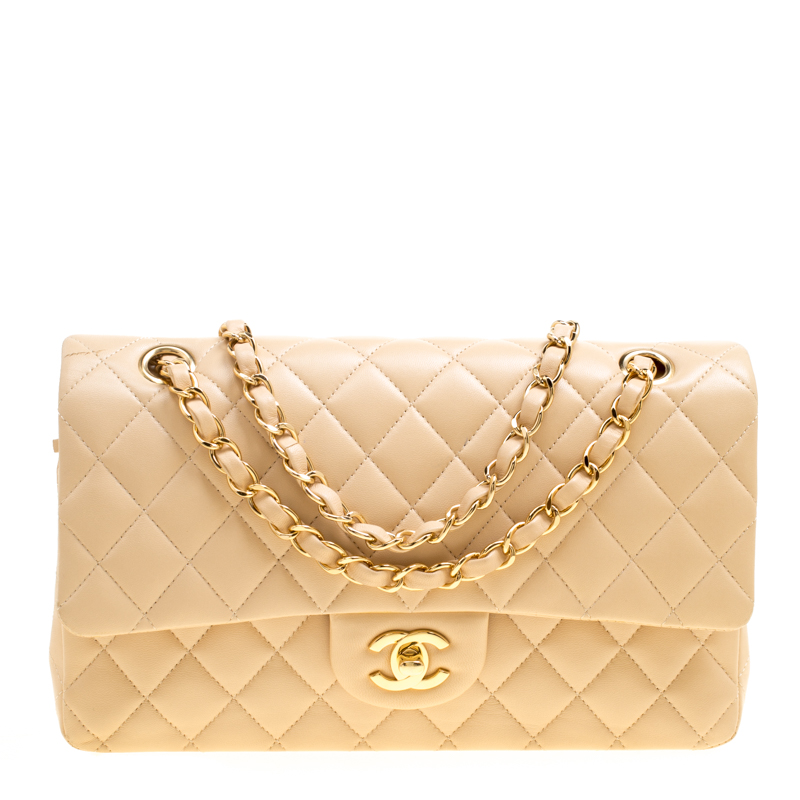 5ed1b14139876 ... Chanel Beige Quilted Leather Medium Classic Double Flap Bag. nextprev.  prevnext