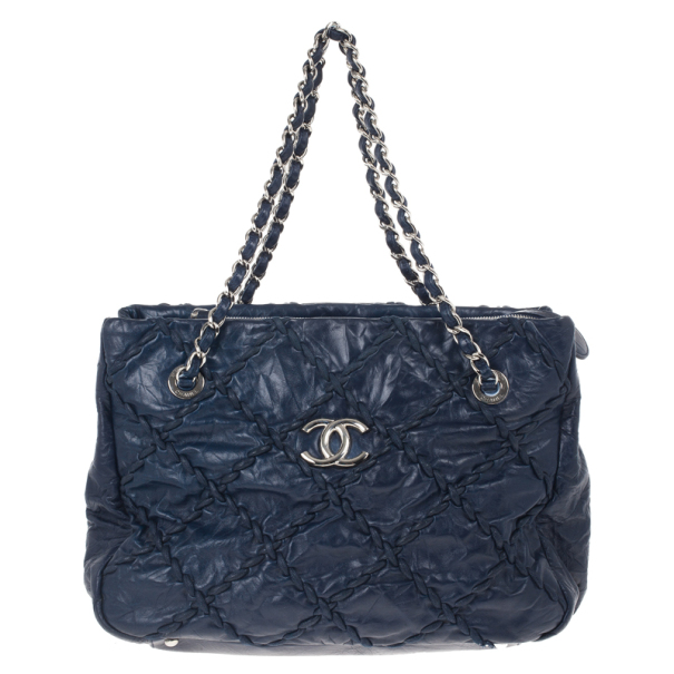 a43d96127d4a Buy Chanel Blue Bubble Quilted Tote 16294 at best price | TLC