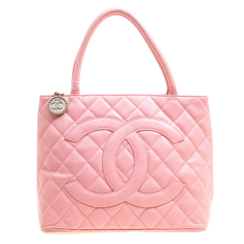 186b04d93ab7 ... Chanel Pink Quilted Caviar Leather Medallion Tote. nextprev. prevnext
