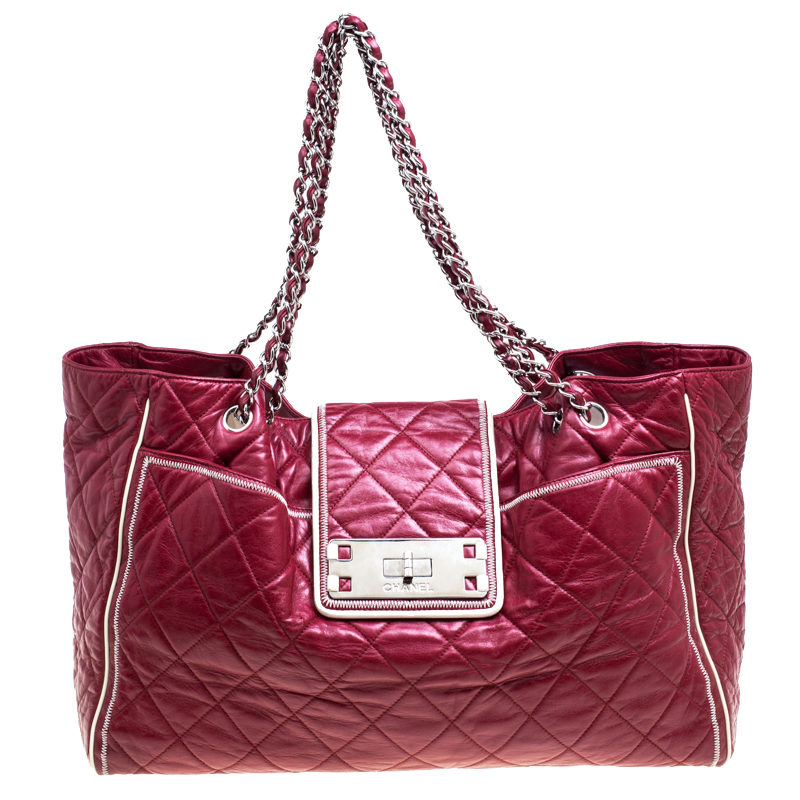 1f5516b47635 ... Chanel Maroon Quilted Leather Accordion Reissue Shoulder Bag. nextprev.  prevnext