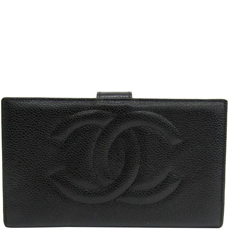 aaeb167b1c42b3 Buy Chanel Black Leather CC Bifold Wallet 164665 at best price | TLC