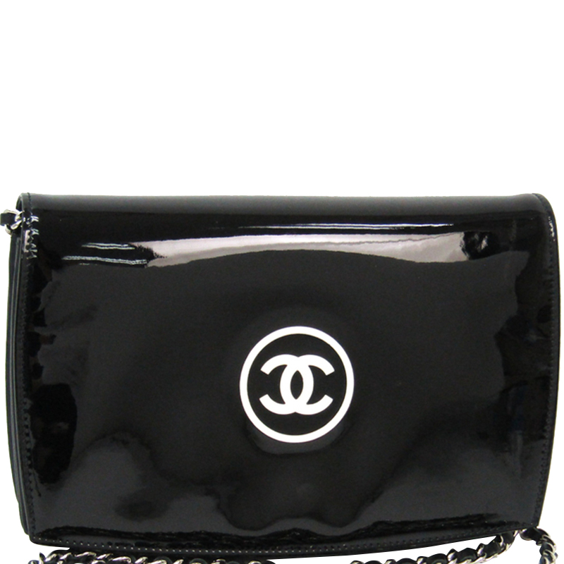 9d2cb06eac164d Buy Chanel Black Patent Leather WOC Clutch Bag 164684 at best price ...