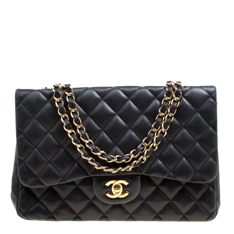 655fa3bd9ecc30 ... Chanel Black Quilted Leather Jumbo Classic Single Flap Bag. nextprev.  prevnext