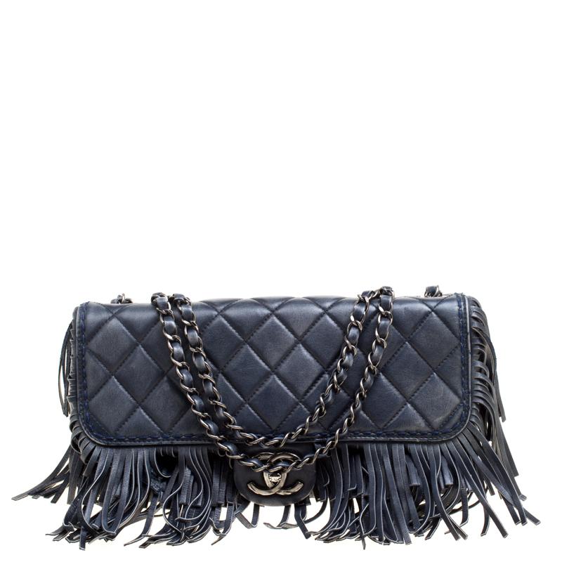 ... Chanel Blue Quilted Leather Paris Dallas Fringe Flap Shoulder Bag.  nextprev. prevnext 76ab8721a1198
