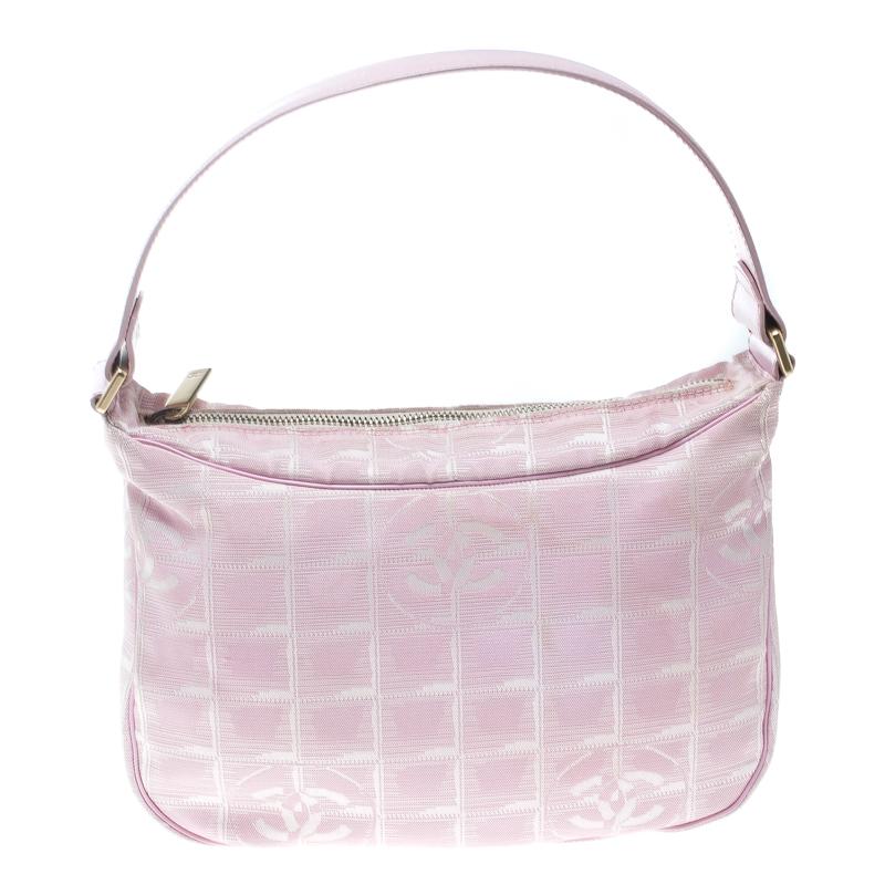 2e6dfe54578c87 Buy Chanel Pink Nylon Travel Line Hobo 166063 at best price   TLC