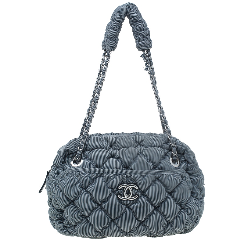 87de65dbf535 Buy Chanel Grey Quilted Fabric Bubble Camera Bag 1667 at best price | TLC