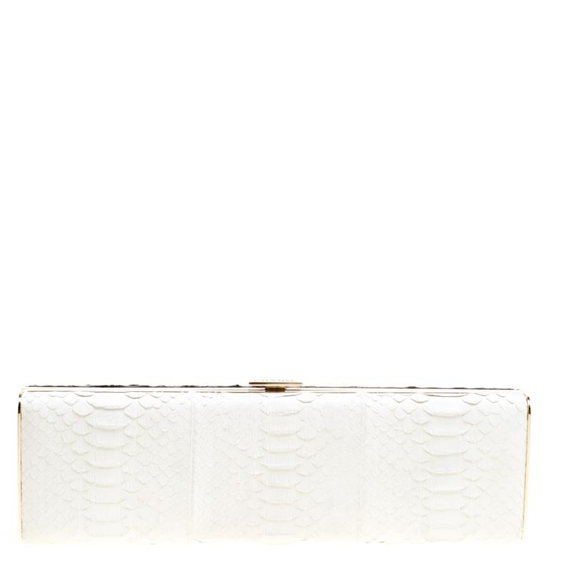 6ea99fffbda5 Buy Chanel Black/White Python Frame Clutch 167153 at best price   TLC