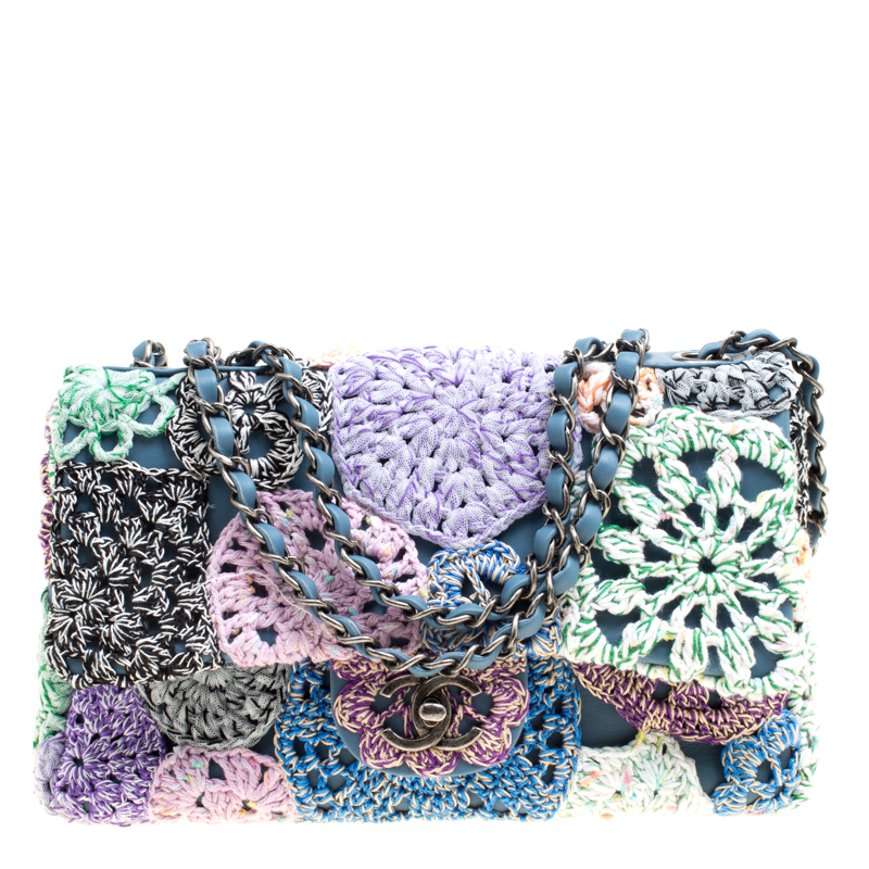 ... Chanel Multicolor Crochet and Leather Medium Classic Single Flap Bag.  nextprev. prevnext d17a49f2ff6f6
