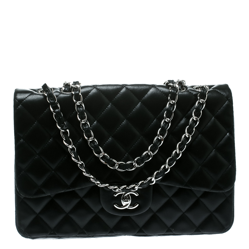 208510aec830 ... Chanel Black Quilted Leather Jumbo Classic Single Flap Bag. nextprev.  prevnext