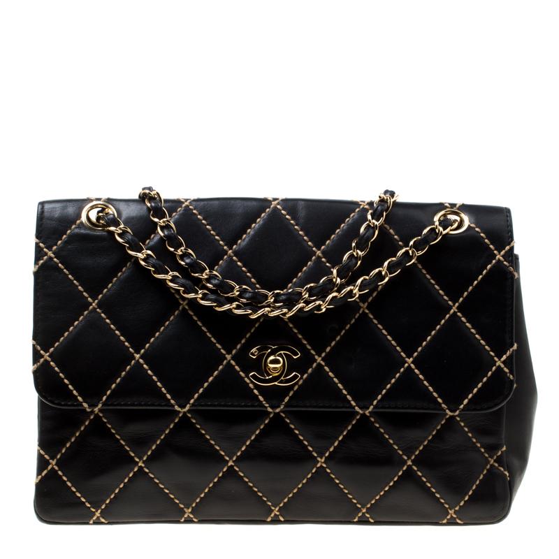 779156fcadd0 ... Chanel Black Quilted Leather Wild Stitch Surpique Flap Bag. nextprev.  prevnext