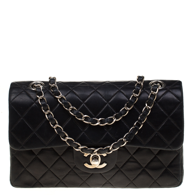 1ac8a507941 ... Chanel Black Quilted Leather Small Classic Double Flap Shoulder Bag.  nextprev. prevnext