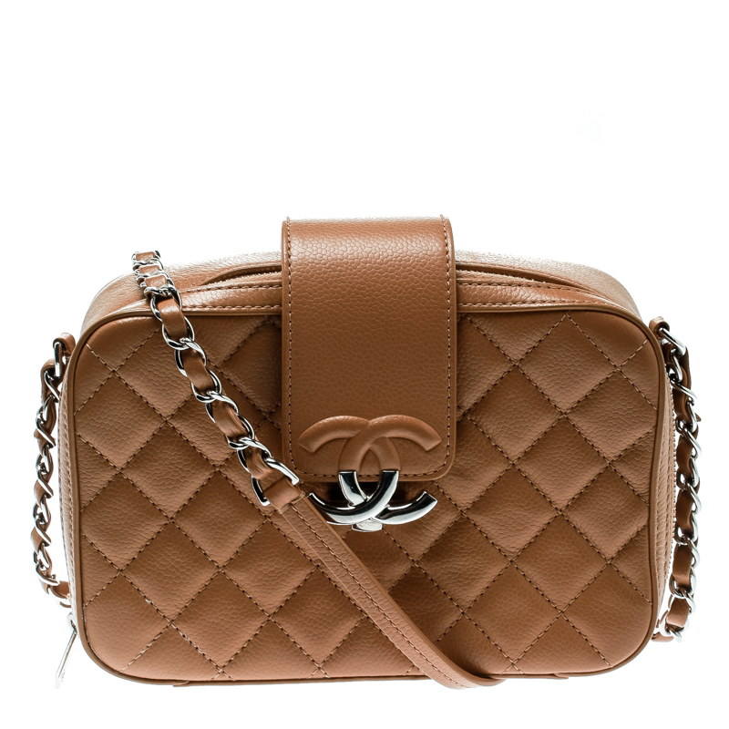 0249c5f790f9 ... Chanel Caramel Quilted Leather Camera Crossbody Bag. nextprev. prevnext