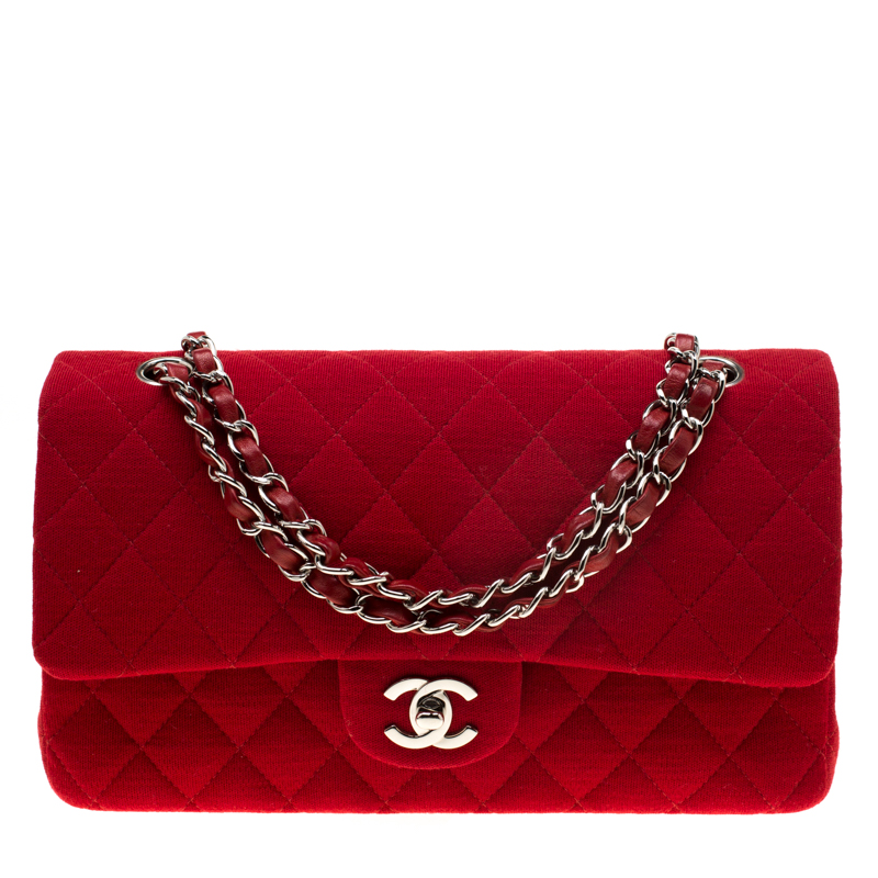 665e70dcba7b ... Chanel Red Quilted Jersey Medium Classic Double Flap Bag. nextprev.  prevnext