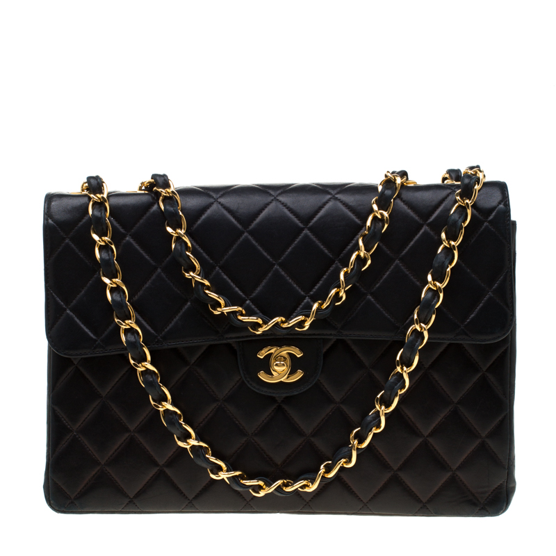 4e48f808f427 ... Chanel Black Quilted Leather Jumbo Classic Single Flap Bag. nextprev.  prevnext