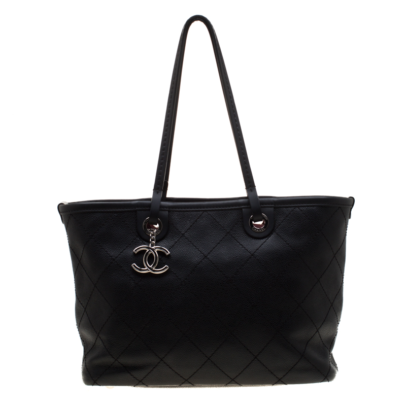 c1bdd55f65b9 ... Chanel Black Quilted Leather Shopping Fever Tote. nextprev. prevnext