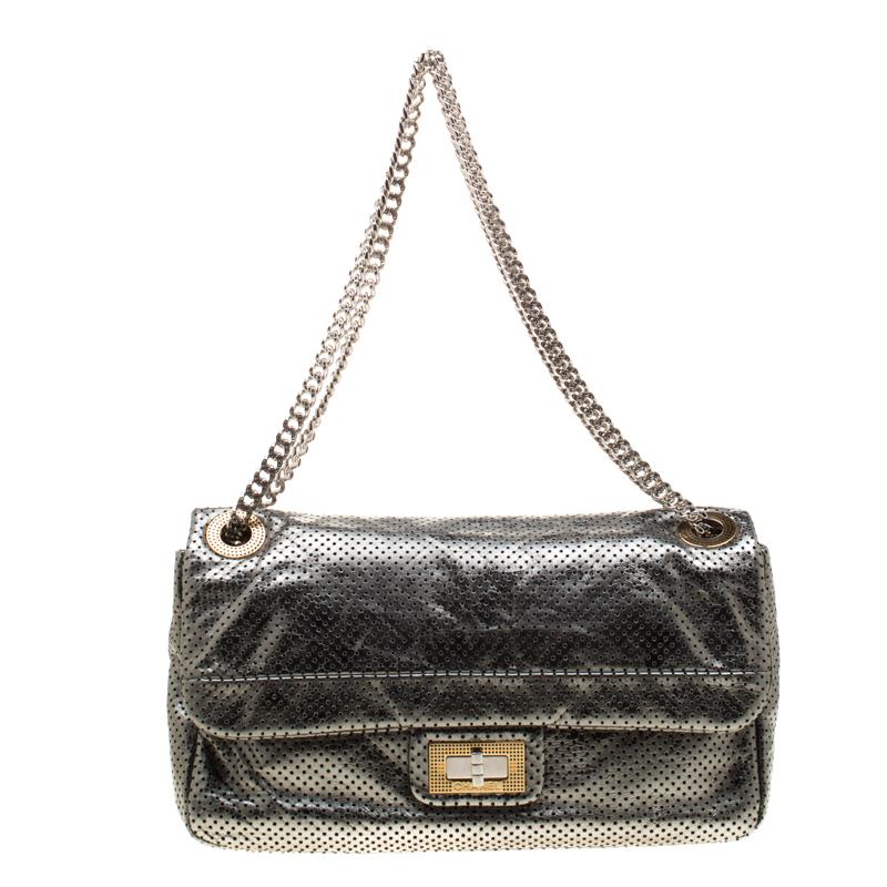 995e91d83a0d ... Chanel Metallic Green Perforated Leather Reissue Drill Flap Bag.  nextprev. prevnext