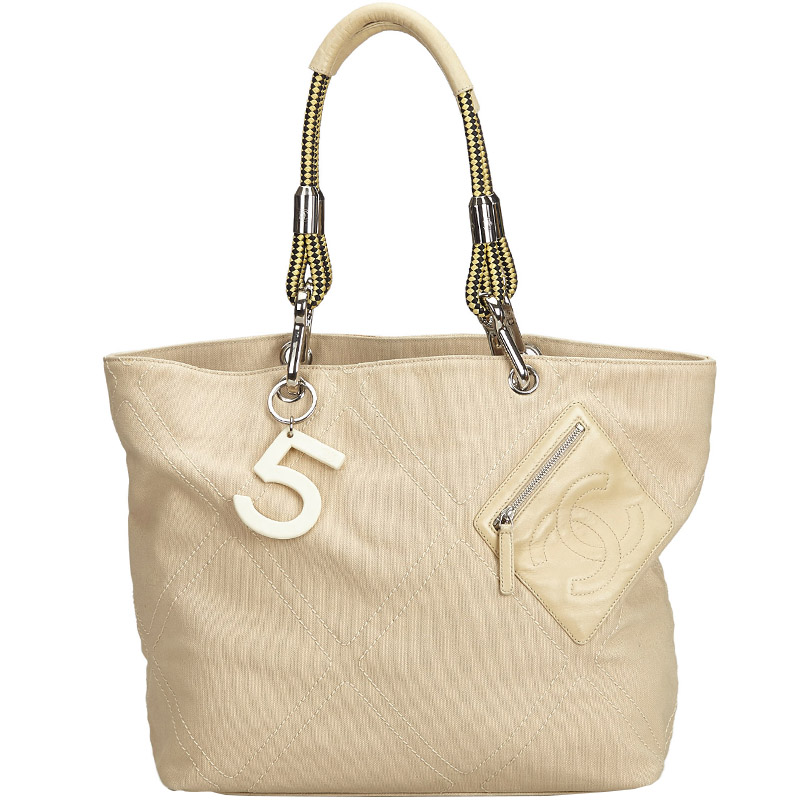 146d27999 ... Chanel Beige Canvas and Leather No.5 Tote Bag. nextprev. prevnext