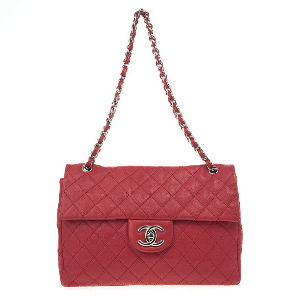 71b1e590456a Buy Chanel Red Caviar Classic Jumbo Flap Bag 20847 at best price | TLC