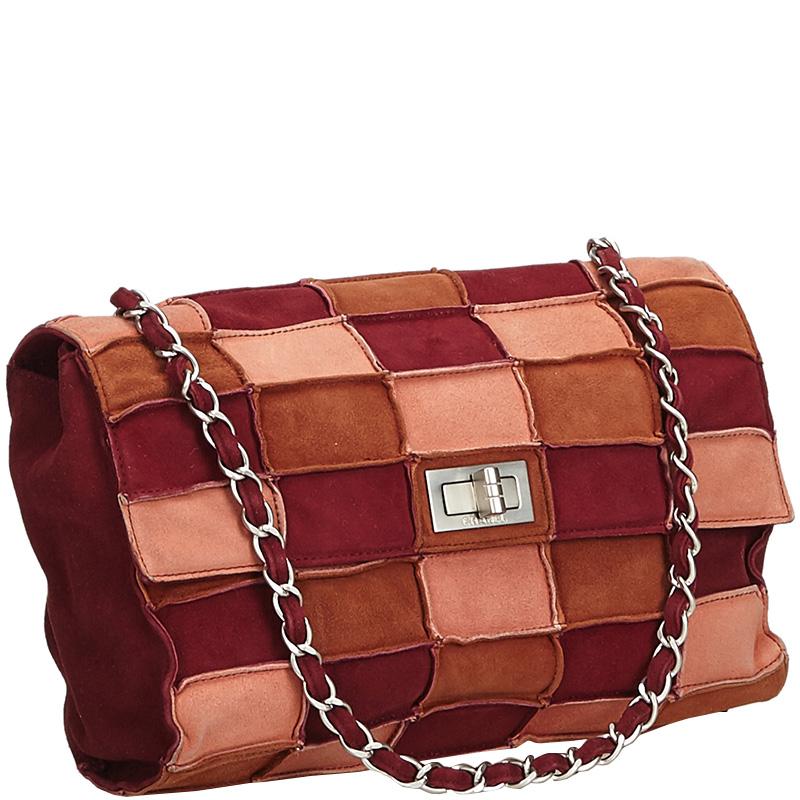 Chanel Multicolor Patchwork Suede Small Reissue Flap Shoulder Bag