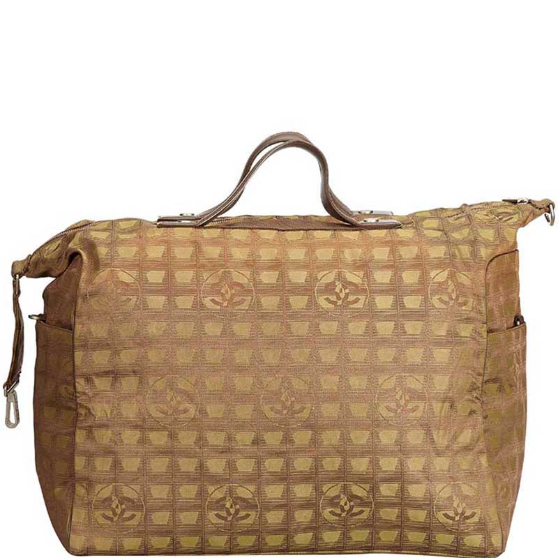 Chanel Brown Jacquard New Travel Line Bag