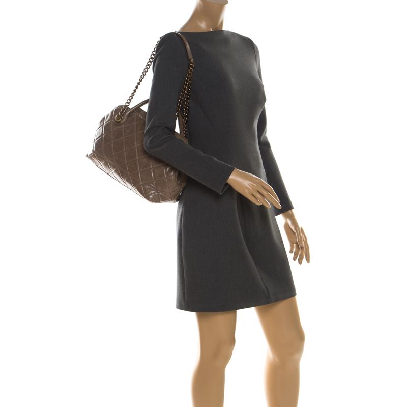 Best Buy Castle Rock >> Chanel Khaki Quilted Leather Castle Rock Satchel