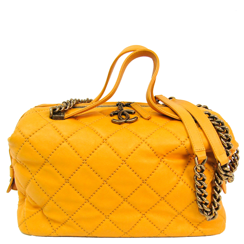 Chanel Yellow Leather Wild Sch Shoulder Bag
