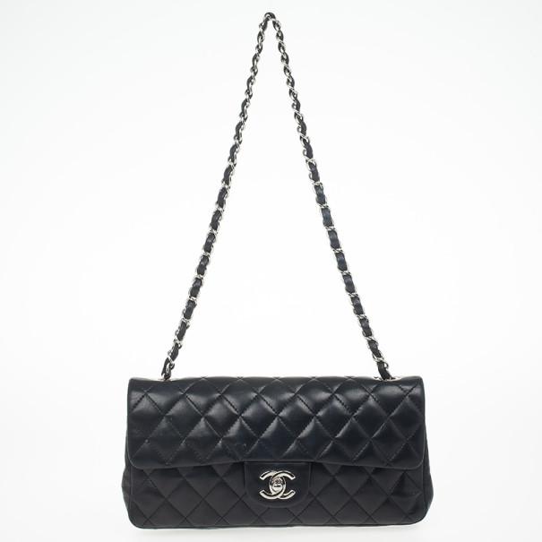 8b9daeb12a9b ... Chanel Black Quilted Lambskin East West Flap Bag. nextprev. prevnext