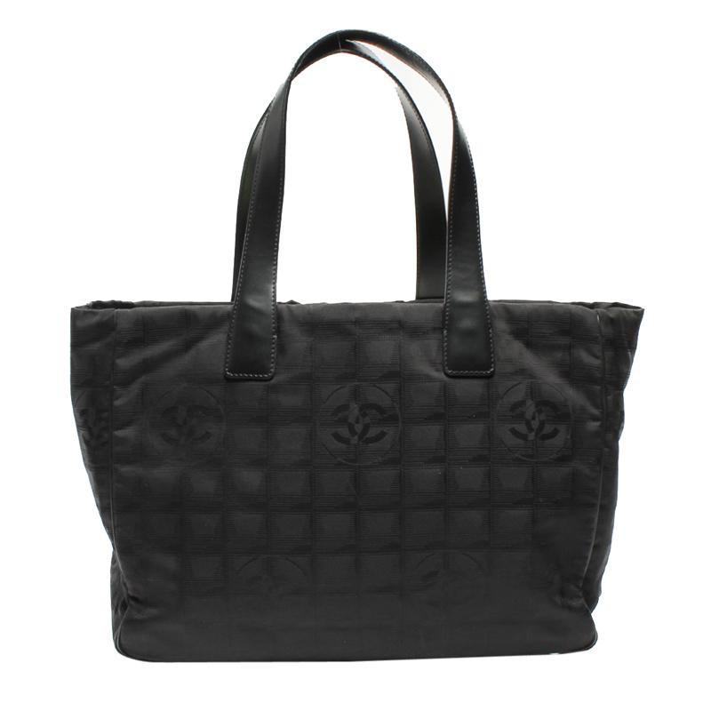 Chanel Black Nylon New Travel Tote Bag