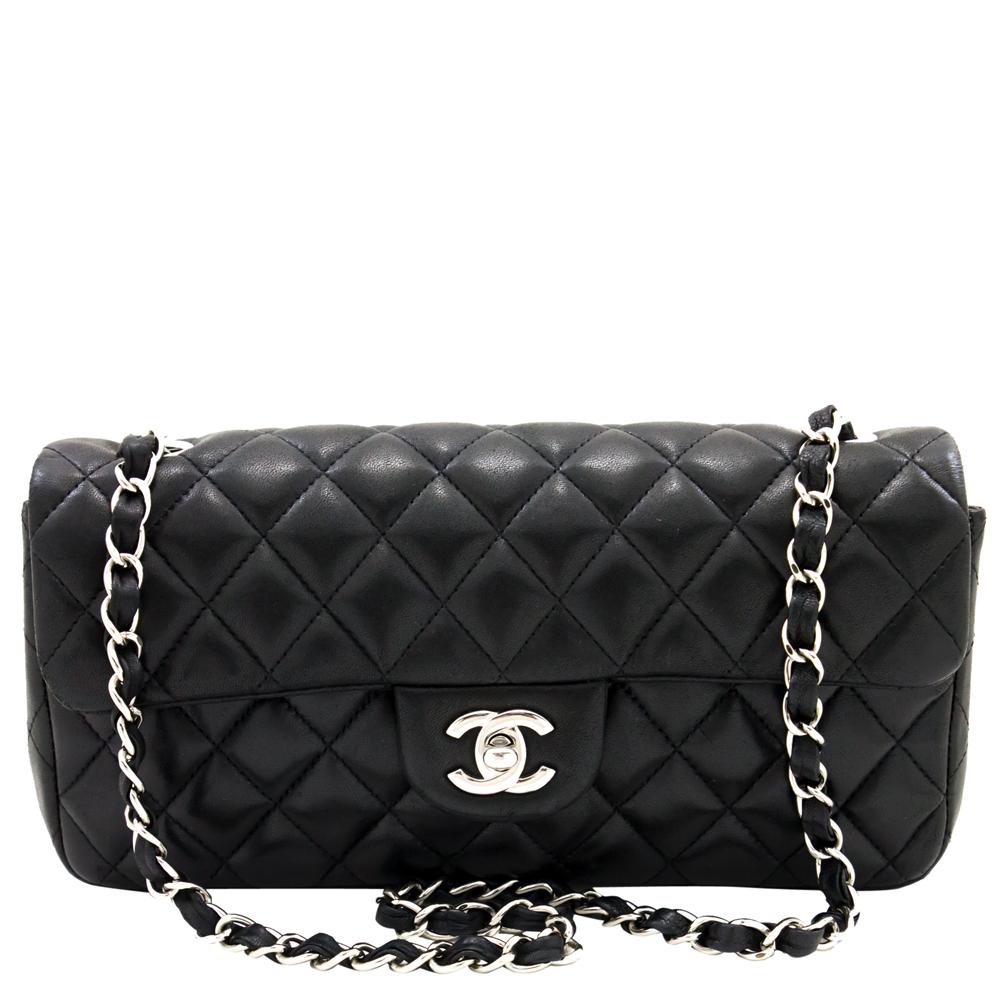 Chanel Black Quilted Leather Medium Double Flap Shoulder Bag