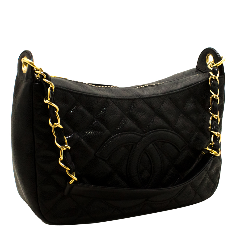 Chanel Black Quilted Leather Medium Gabrielle Shoulder Bag