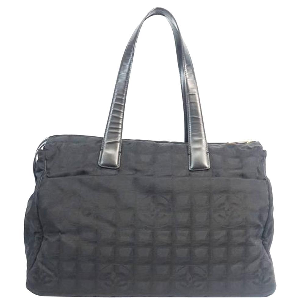 Chanel Black Canvas New Travel Line Large Bag