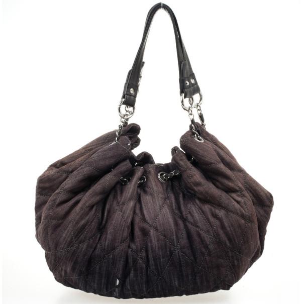 89b793e061e4 ... Chanel Brown Denim XL Coco Cabas Spirit Hobo Bag. nextprev. prevnext